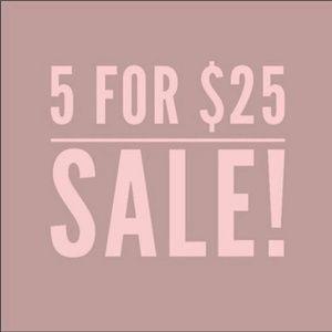 🔴5/$25 SALE!